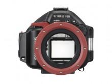 人気のミラーレスカメラPEN Liteの防水プロテクター