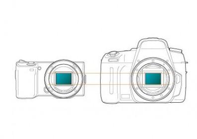 ソニーの最新ミラーレス一眼カメラNEXの撮像素子サイズ