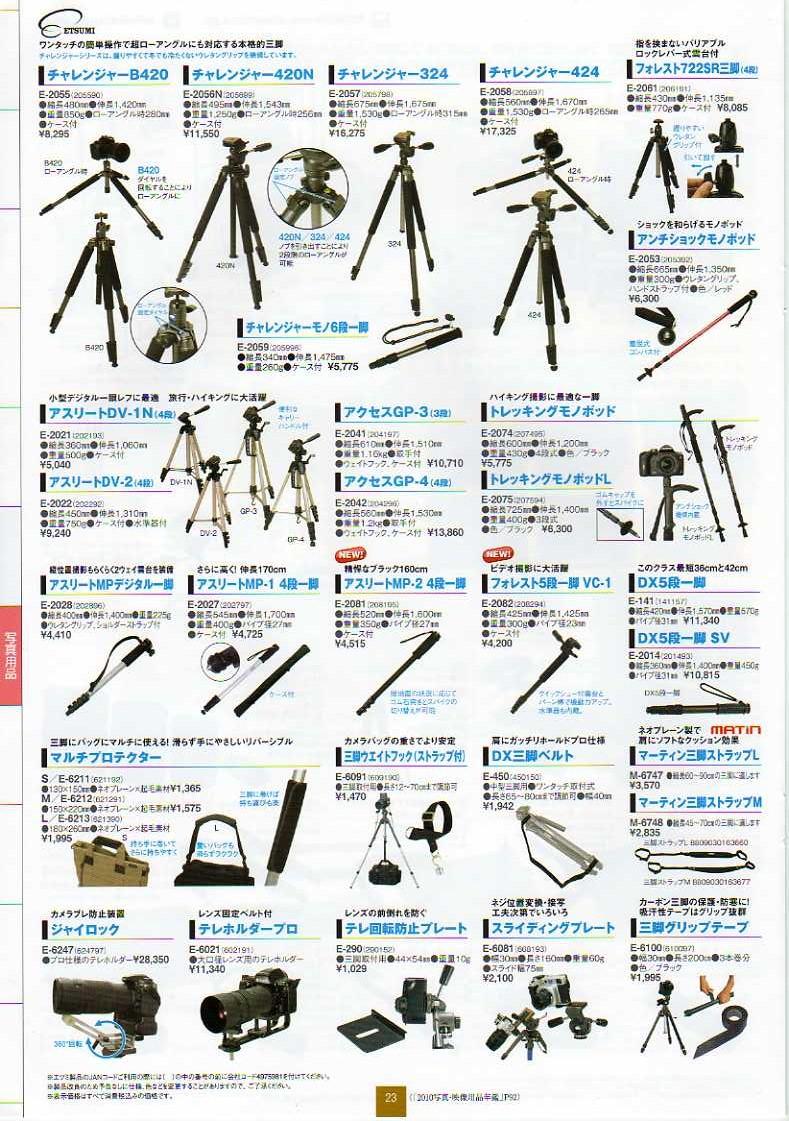 デジタル一眼レフカメラ比較・選び方入門 デジ一.com ETSUMI(エツミ)2010年カタログ P23