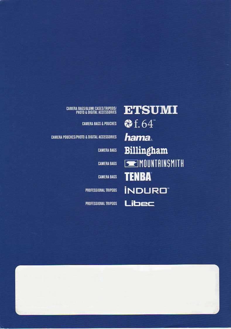 デジタル一眼レフカメラ比較・選び方入門 デジ一.com ETSUMI(エツミ)2010年カタログ 裏表紙