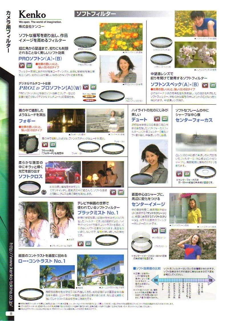 KENKO(ケンコー)最新カタログ カメラ用交換レンズフィルター カメラ交換レンズ用 ソフトフィルター(ボカシ効果を加える)