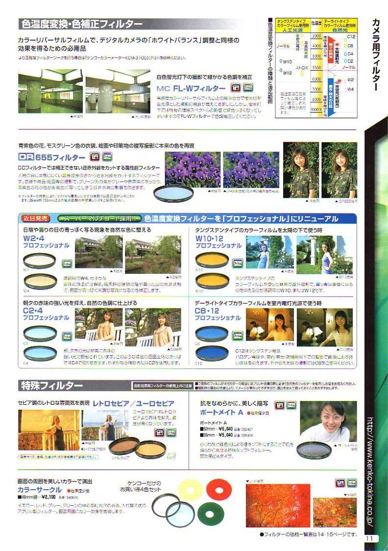 デジタル一眼レフカメラ比較・選び方入門 デジ一.com KENKO(ケンコー)最新カタログ P011
