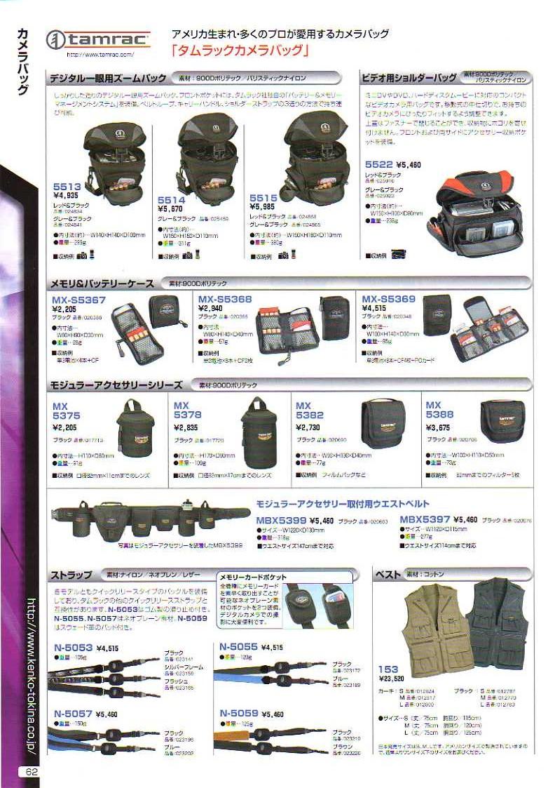 デジタル一眼レフカメラ比較・選び方入門 デジ一.com KENKO(ケンコー)最新カタログ P062