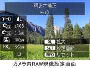 CANON EOS 60D カメラ内RAW現像処理画面