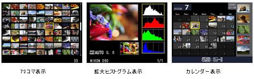 ニコン(NIKON) D90の豊富な再生表示