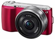 ソニー(SONY) ミラーレスカメラ NEX-C3 レッド