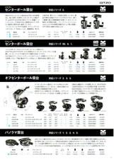 GITZO(ジッツオ/ジッツォ)最新カタログ 三脚・一脚・雲台 雲台:センターボール雲台やパノラマ雲台など