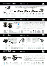 GITZO(ジッツオ/ジッツォ)最新カタログ 三脚・一脚・雲台 雲台:ビデオ雲台やシステマティック雲台など